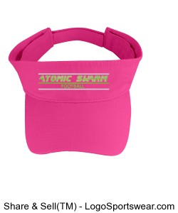 Fashion Visor with Adjustable Velcro Back Design Zoom